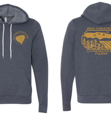 The RGCF Hoodie - slate blue and gold