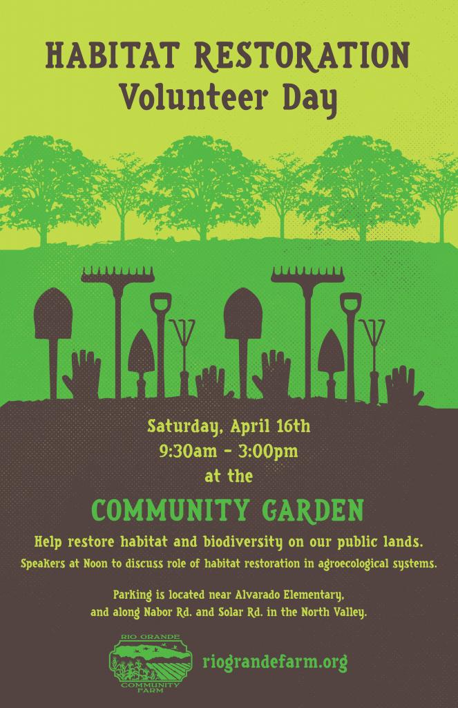 Habitat Restoration Volunteer Day – Spring 2016