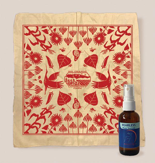 Covid Safety Kit - bandana and hand sanitizer